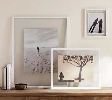 Floating Wood Gallery Frame, White - 20 x 24'' - Pottery Barn