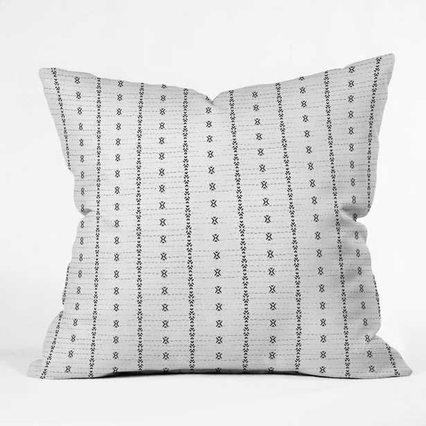 FRENCH LINEN TRIBAL IKAT Pillow - indoors - Wander Print Co.