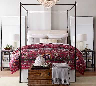 Antonia Metal Canopy Bed, King, Aged Bronze finish - Pottery Barn