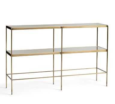 Leona Metal Console Table, Brass - Pottery Barn