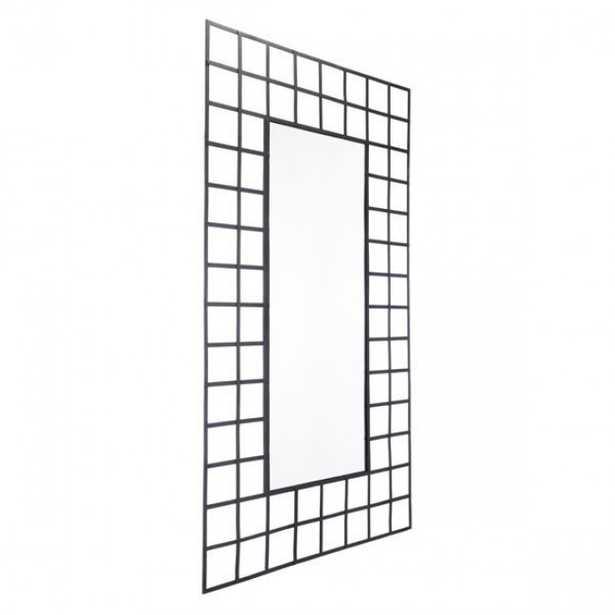 Cuadritos Rectangular Mirror Lg Black - Zuri Studios