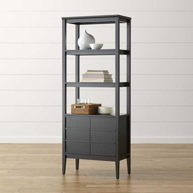 Spotlight Ebony Bookcase - Ebony - Crate and Barrel