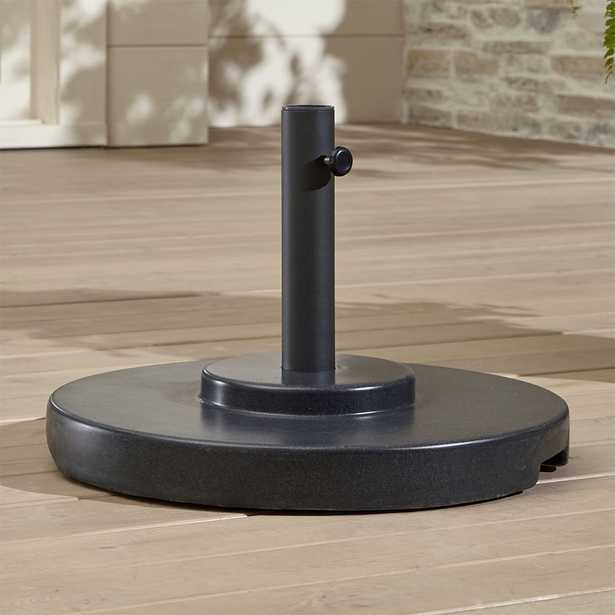 Large Charcoal Umbrella Stand with Wheels - Crate and Barrel - Crate and Barrel