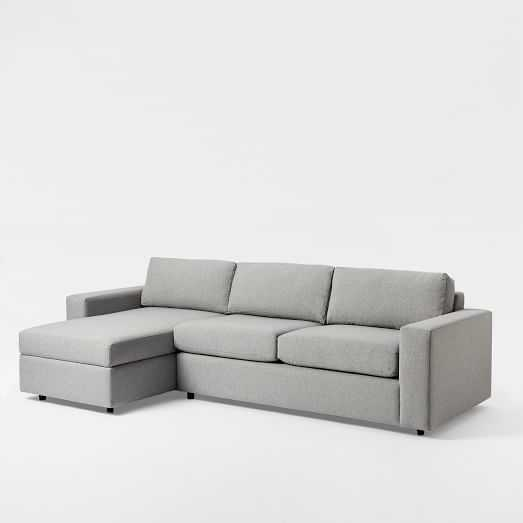 Urban 2-Piece Chaise Sectional - Small, Left Chaise 2-Piece Sectional - West Elm