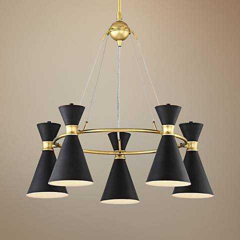 "George Kovacs Conic 26"" Wide Honey Gold Chandelier - Lamps Plus"