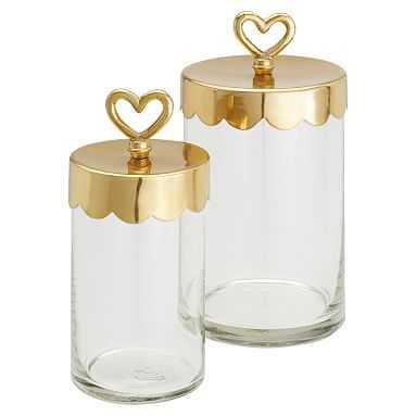 The Emily & Meritt Beauty Jars, Set of 2 - Pottery Barn Teen