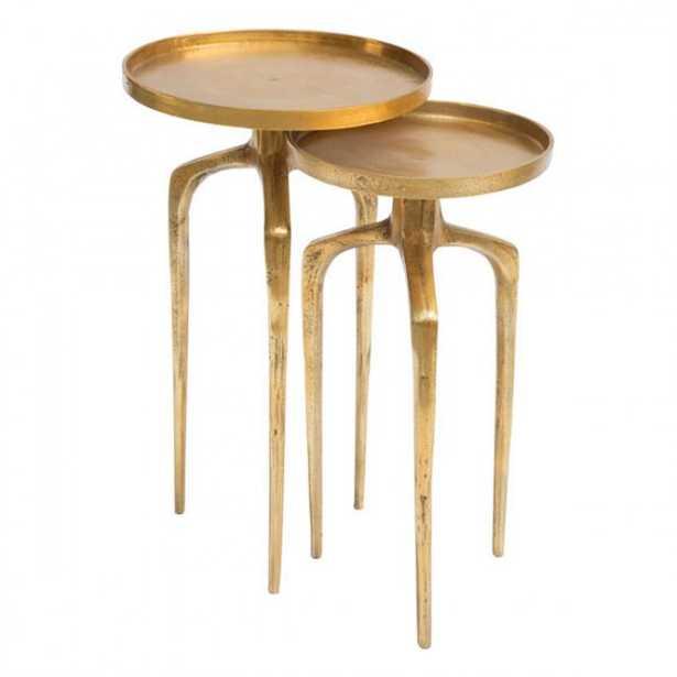 Como Accent Table Set Antique Gold - Zuri Studios