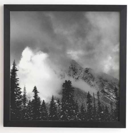 "MOUNTAIN MAJESTY Framed - Black - 30""x30"" - Wander Print Co."