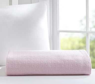 Organic Cotton Woven Blanket, Pale Pink, Twin - Pottery Barn Kids