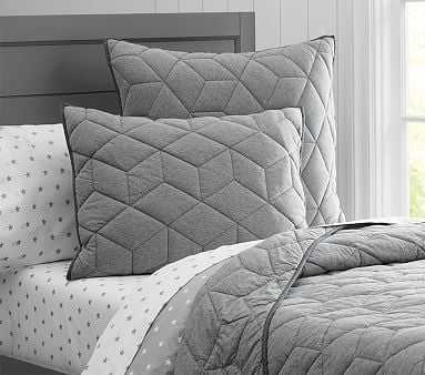 Jersey Quilt, Twin, Gray - Pottery Barn Kids