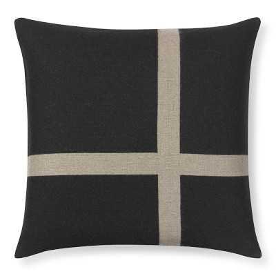 "Cashmere & Wool Equestrian Pillow Cover, 22"" X 22"", Black - Williams Sonoma"