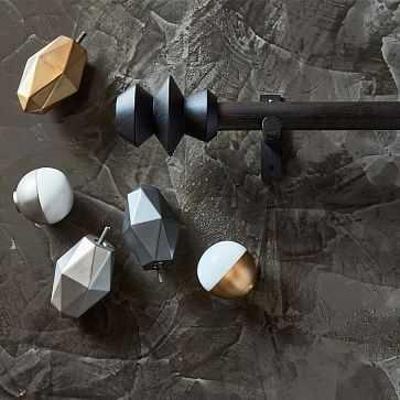 """Sculptural Wood Rod, Black, 44""""-108"""" - West Elm"""