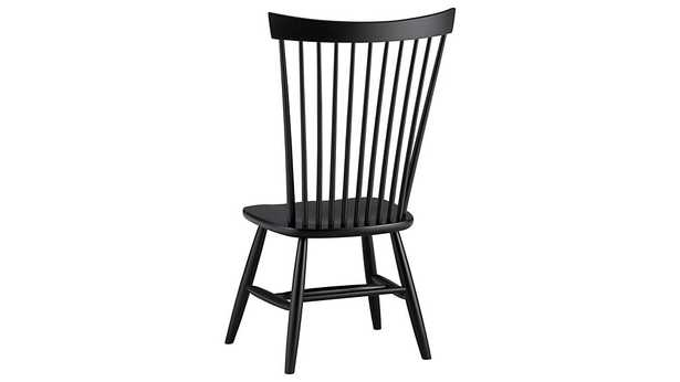 Marlow II Black Wood Dining Chair - Crate and Barrel
