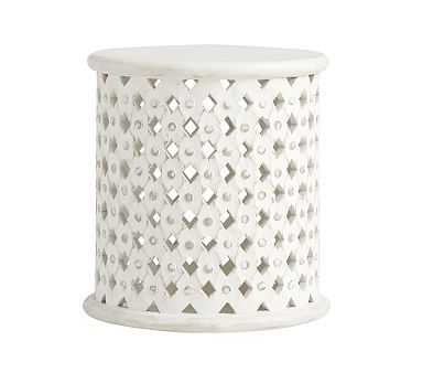 Stella Side Table, Antique White - Pottery Barn Kids