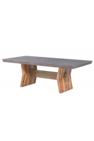 Braelynn Dark Concrete Table - Maren Home