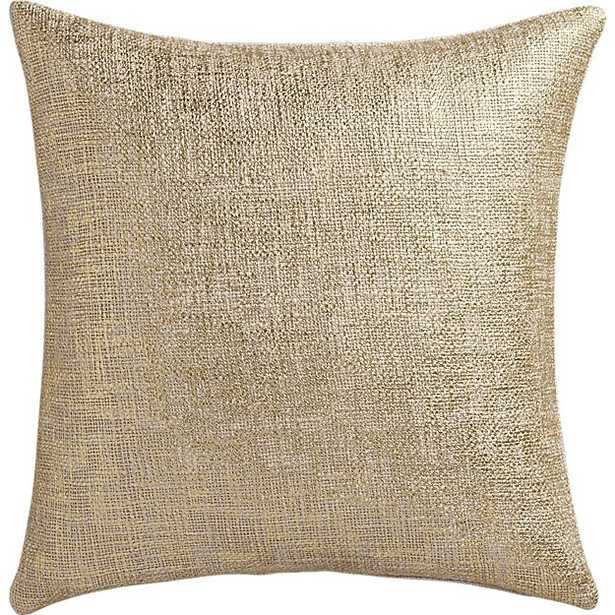"""""""18"""""""" glitterati gold pillow with feather-down insert"""" - CB2"""