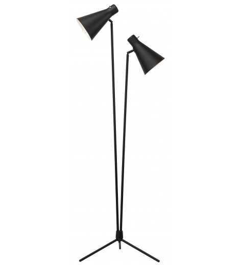 ELEANA FLOOR LAMP, BLACK - Lulu and Georgia