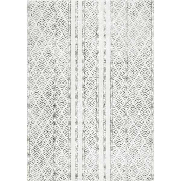 Contemporary Geometric Diamond Grey Rug (8x10') - Home Depot