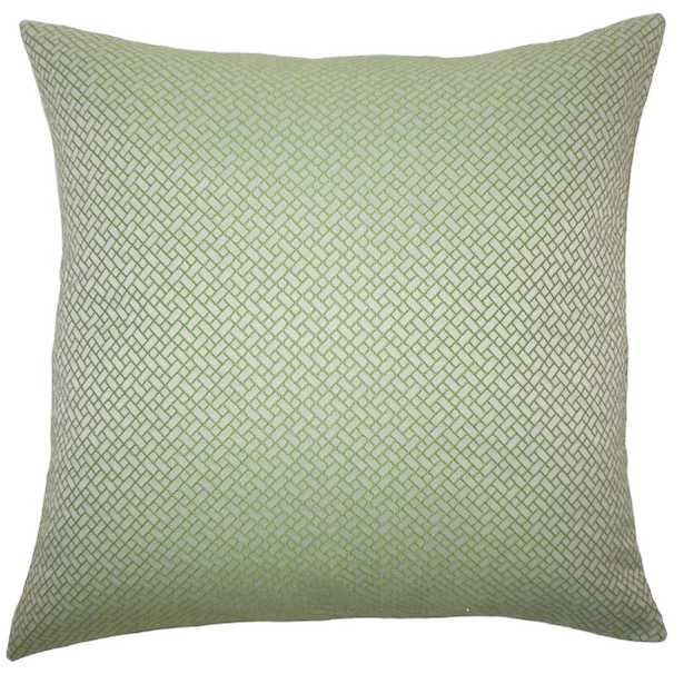 Pertessa Geometric Pillow Green - Linen & Seam