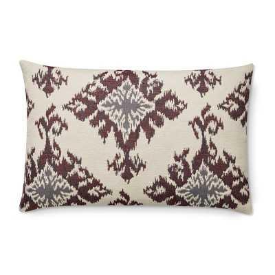 """Tiana Medallion Ikat Jacquard Lumbar Pillow Cover, 14"""" X 22"""", Lilac - Williams Sonoma"""
