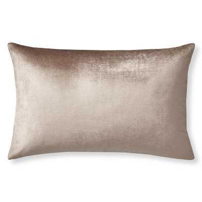 """Velvet Lumbar Pillow Cover, 14"""" X 22"""", Blush - Williams Sonoma"""