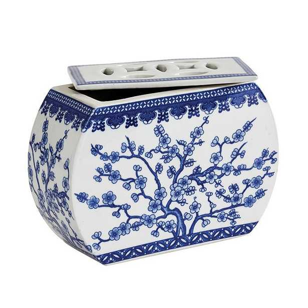 Blue & White Chinoiserie Collection - Floral Frog - Ballard Designs