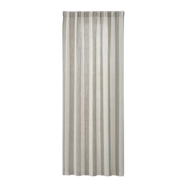 Willis Natural Taupe Curtain Panel 48x96 - Crate and Barrel