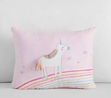 Molly Unicorn Pillow, 12x16, Multi - Pottery Barn Kids