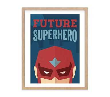 He's a Future Superhero Wall Art by Minted(R) 30x40, Natural - Pottery Barn Kids