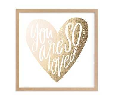 So Loved Heart Wall Art by Minted(R) 8x8, Natural - Pottery Barn Kids