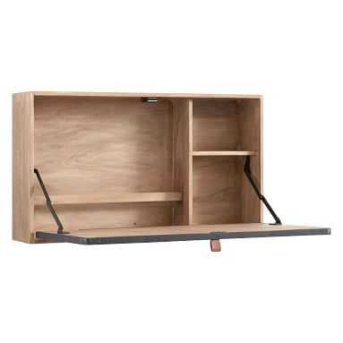 Wall Mounted Desk, Smoked Gray - Pottery Barn Teen