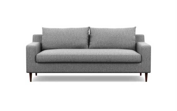 "Sloan Sofa - 91"" - Seed Crossweave, Walnut Tapered Leg - Single Bench Cushion - CUSTOM - Interior Define"