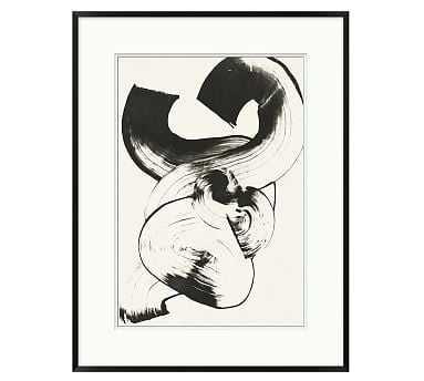 """Fluid Strokes Framed Print, 23 x 30"""" - Pottery Barn"""