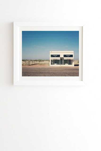 IRONY IN WEST TEXAS - Framed white - 11''x13'' - Wander Print Co.