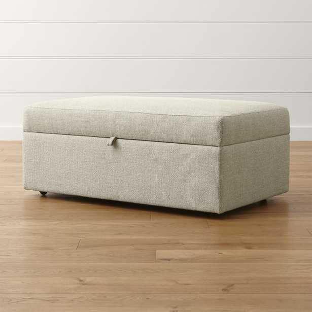 Lounge II Deep Storage Ottoman, Cement - Crate and Barrel