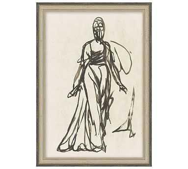 "Adorne Sketch Framed Print, 10 x 14"" - Pottery Barn"