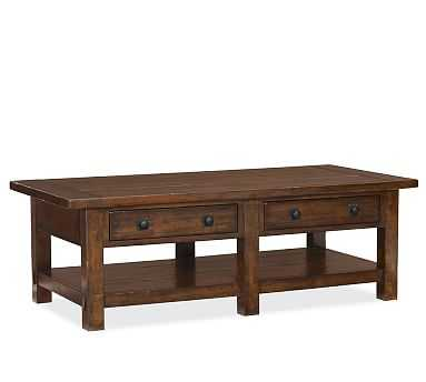Benchwright Coffee Table, Rustic Mahogany - Pottery Barn