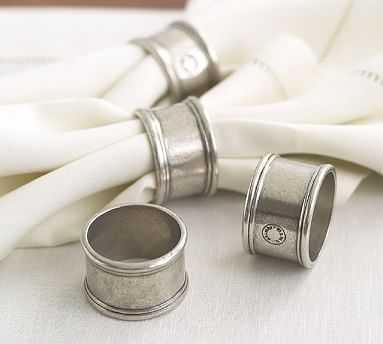 Pewter Napkin Ring, Set of 4 - Pottery Barn