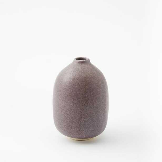 Judy Jackson Tiny Stoneware Bottles - Oval, Grape - West Elm
