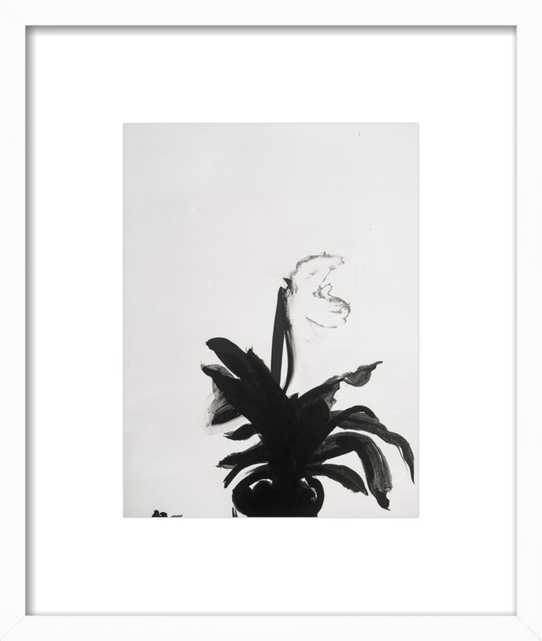 """The Orchid - 16x19"""" - White Wood Frame with Matte - Artfully Walls"""