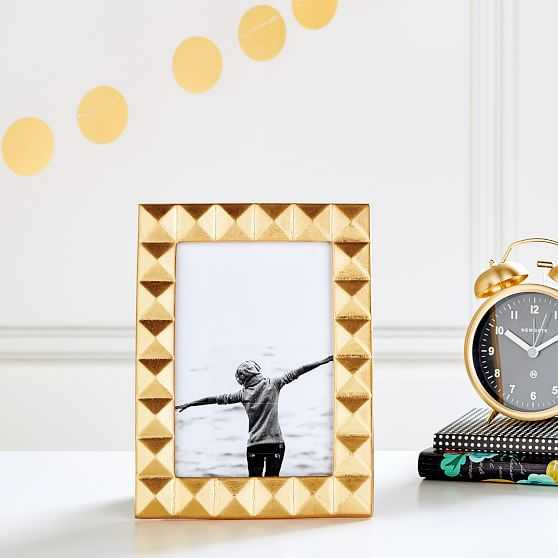 The Emily & Meritt Tabletop Frame, Gold Rectangle - Pottery Barn Teen