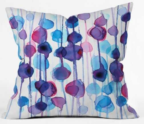 Abstract Watercolor Throw Pillow - Wander Print Co.