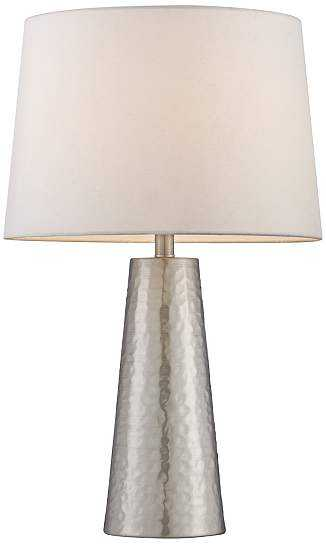 Hammered Metal Cylinder Table Lamp - Lamps Plus
