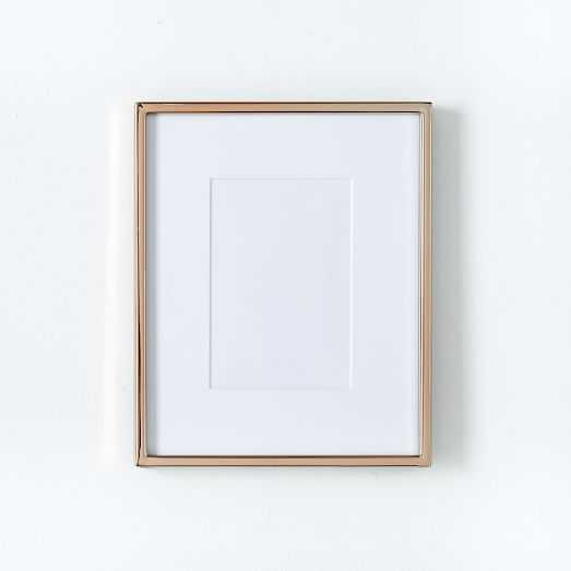 """Metal Tabletop Frame - Rose Gold - 4"""" x 6"""" (8"""" x 10"""" without mat) - West Elm"""