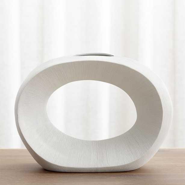 "Alura Cream Open Vase - 10.5""H - Crate and Barrel"