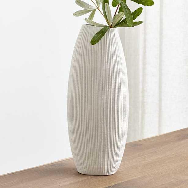 Alura Cream Tall Vase - Crate and Barrel