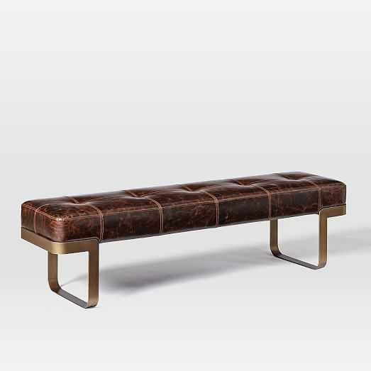 Ziggy Leather Bench - West Elm