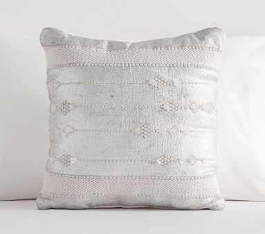 Michah Metallic Pillow, Silver - Pottery Barn Kids