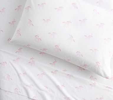 Organic Unicorn Rainbow Sheet Set, Twin, Pink - Pottery Barn Kids