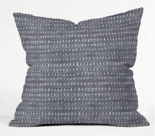 "BOGO DENIM RAIN LIGHT Outdoor Throw Pillow - 20""x20""- insert included - Wander Print Co."